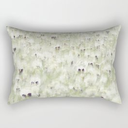 Pansy Field Floral Pattern III Rectangular Pillow