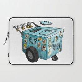 Blue Paletero Ice Cream Cart Laptop Sleeve
