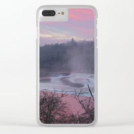 Willamette Falls at Sunset Clear iPhone Case
