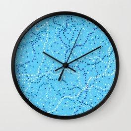 Milk Way Sky Blue Wall Clock