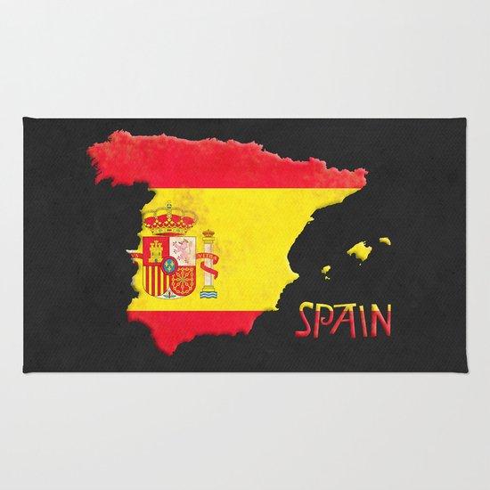 Spain Vintage Map Rug