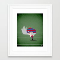 rugby Framed Art Prints featuring Rugby by Osvaldo Casanova