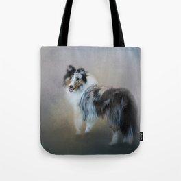 Did You Call Me - Blue Merle Shetland Sheepdog Tote Bag