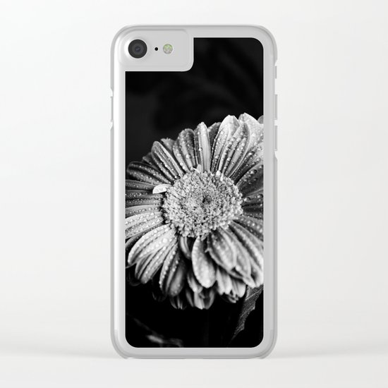 Gerbera black and white Clear iPhone Case
