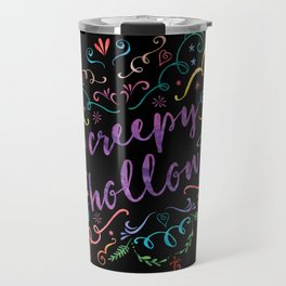 Creepy Hollow - color on black Travel Mug