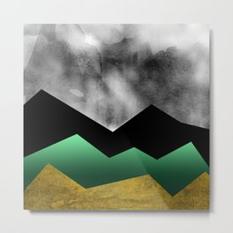 Golden Stormy Mountain No.1 Metal Print