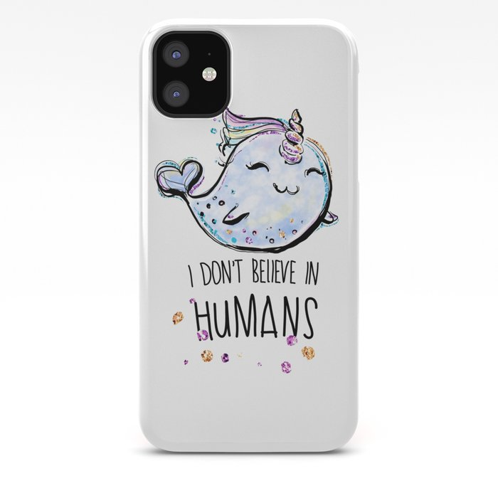 narwhal whale lovers iphone 11 case