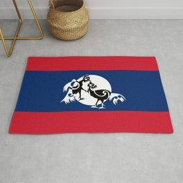 Laos, Roosters Sparring Rug