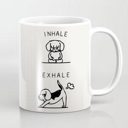 Inhale Exhale Beagle Coffee Mug