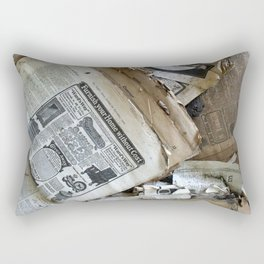 Old Newspaper Left to the Elements...Furnish Your Home in Style Rectangular Pillow