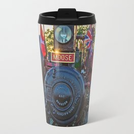 Moose traction engine at sunset Travel Mug