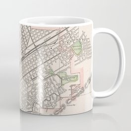 Vintage Map of Birmingham Alabama (1901) Coffee Mug