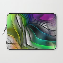 COLOR COVERGECE ABSTRACT Laptop Sleeve