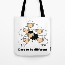 Dare To Be Different Black Sheep Tote Bag