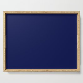 Classic Navy Blue Solid Color Serving Tray
