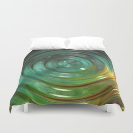 Metallic Green Swirl Duvet Cover