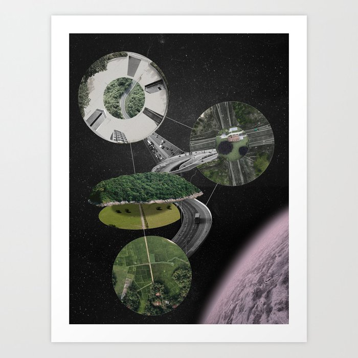 Chymical Station: Escape into Space Art Print