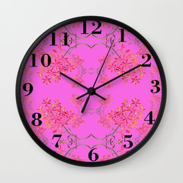 Orchids on Lavender Wall Clock