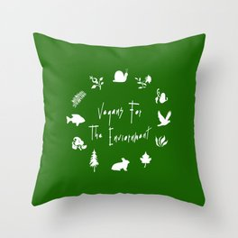 Vegans for The Enviornment Throw Pillow