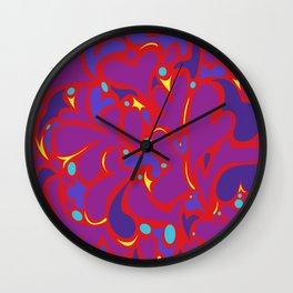 LoveLoveLovePurple Wall Clock