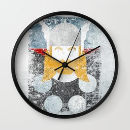 God of thunder grunge superhero Wall Clock