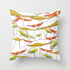 forest of the magic mushrooms Throw Pillow
