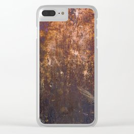 Rusty, Fashion Textures Clear iPhone Case