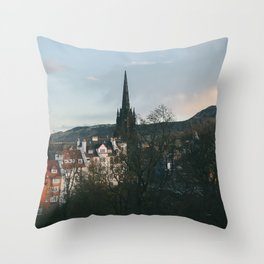 View from the Edinburgh Castle Throw Pillow