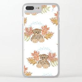 Autumn Bears Clear iPhone Case