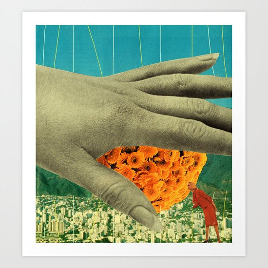 wake up and smell the flowers Art Print