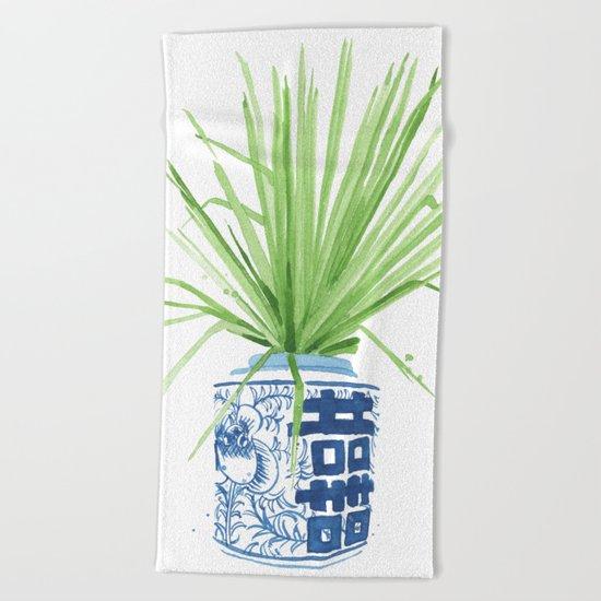 Ginger Jar + Fan Palm Beach Towel