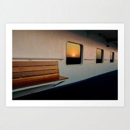 Sunrise & A Bench Art Print