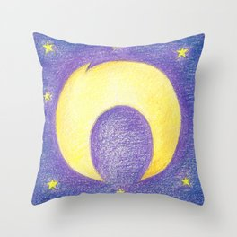 N for Night Throw Pillow