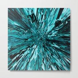 broken glass sea Metal Print