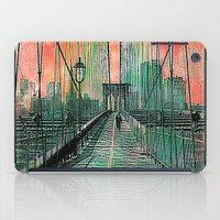 brooklyn bridge iPad Cases featuring Brooklyn Bridge by Ganech joe