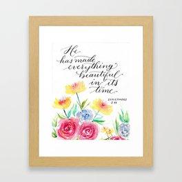 Ecclesiastes 3:11 - Bible Verse Framed Art Print