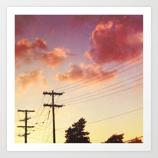 Red hot summer sun set Art Print