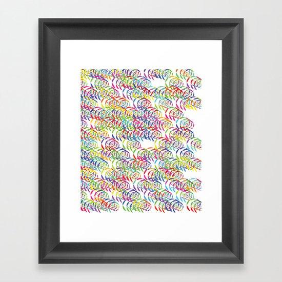 Candy Spirals Framed Art Print