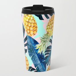 Tropical and exotic pattern painting III Travel Mug