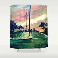 urban Shower Curtains featuring Urban // Slowtown by Samantha Crepeau