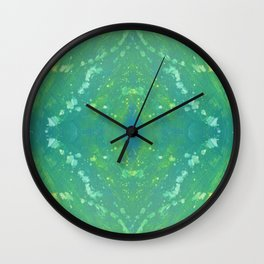 Green Abstract Bright Pattern 1 Wall Clock