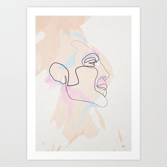 One Line Javier Bardem Art Print