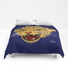 Leopard face Comforters