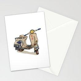 Great Wave off Kanagawa Scooter-Hokusai-Japan-Motorsport-Rider Stationery Cards