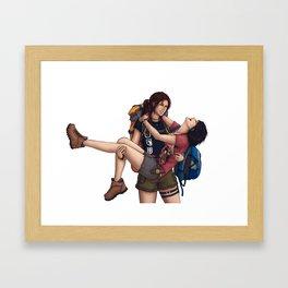 Lara and Sam's Adventures Framed Art Print