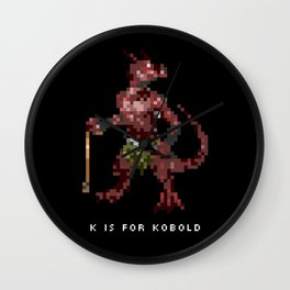 K is for Kobold Wall Clock