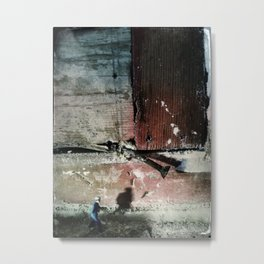 House Disaster Art - Keep Moving Metal Print