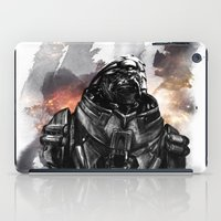garrus iPad Cases featuring Forgive the insubordination - Galaxy by Bandit