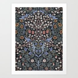Blackthorn Wallpaper by William Morris Art Print