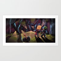 Into the Crystal Forest Art Print